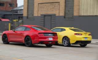 chevrolet camaro 2017 vs ford mustang which to buy