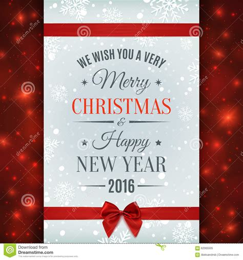 merry christmas  happy  year text label stock
