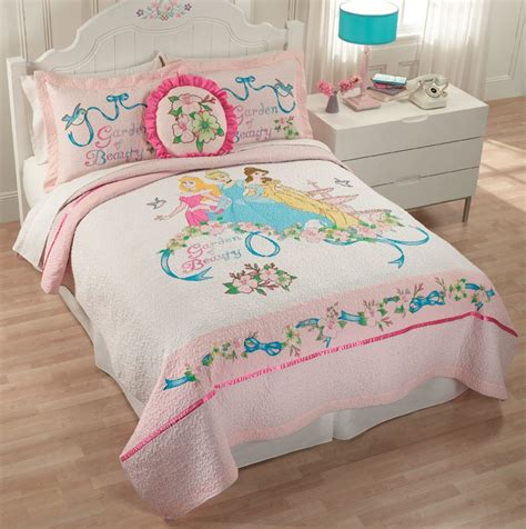 princess queen bed girls disney princess pink belle cinderella twin full