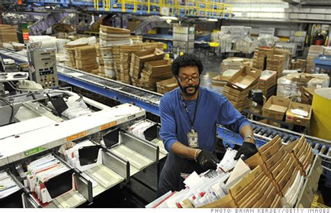 Us Post Office Employment by Postal Plants To Shrink 28 000 At Stake By 2014