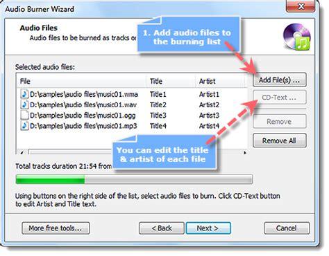 audio format list power sound editor free how to burn audio cd