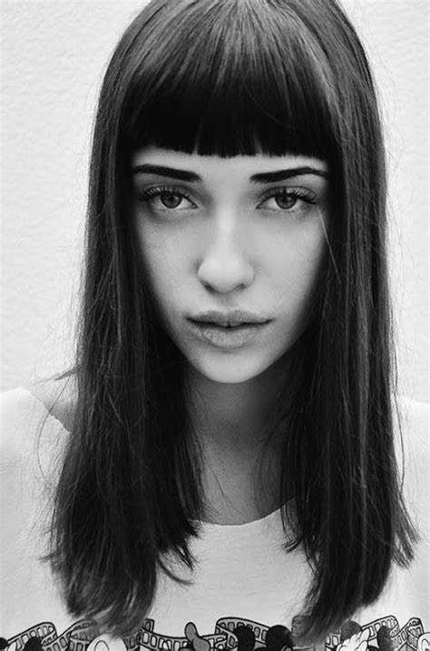 hairstyles with banes cut to eyebrows 30 super chic medium hairstyles with bangs