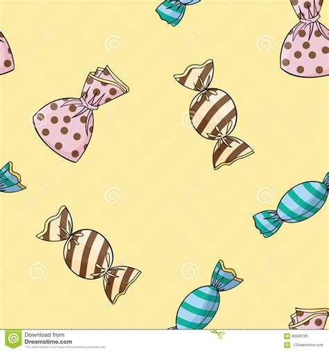 pattern wrapper seamless background pattern of candy stock vector image