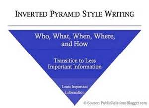 Pyramid Style Of Report Writing by March 2011 M C Chronicle