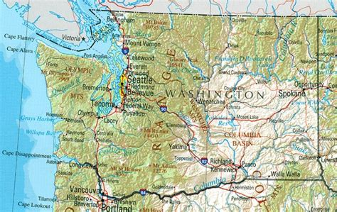 washing state map washington reference map
