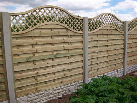 fencing panels with trellis top omega lattice top bentinck fencing