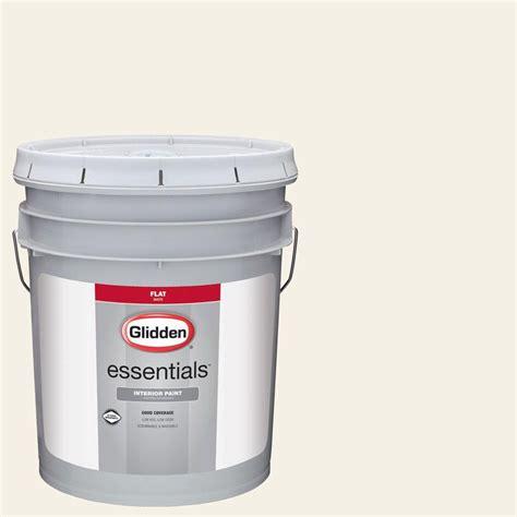 glidden premium 5 gal hdgwn43 crisp linen white satin interior paint with primer hdgwn43p