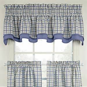 Blue Plaid Kitchen Curtains Buy Plaid Valances From Bed Bath Beyond