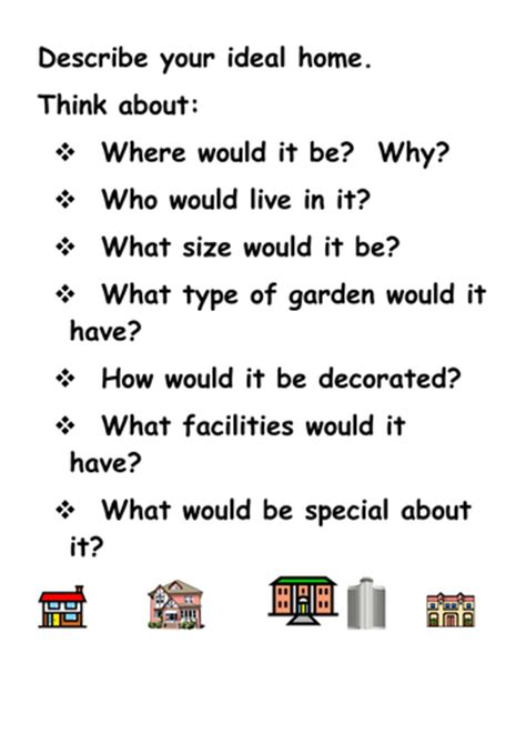 My Ideal House Essay by My Ideal Home By Annecpaterson Teaching Resources Tes