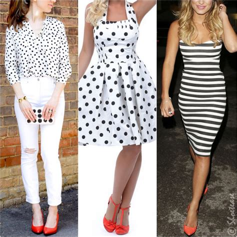 what color to wear to an what color shoes to wear with black and white dress