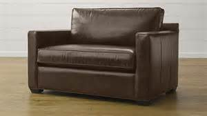 davis leather sleeper sofa libby cashew crate and