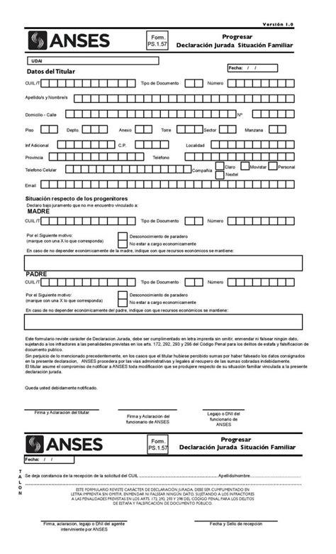 formulario inscripcion progresar 2016 turnos para presentar progresar en anses anses plan