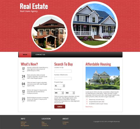 real state template web templates real estate http webdesign14