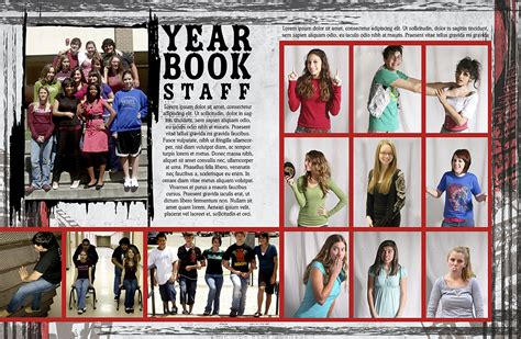 unique yearbook page ideas