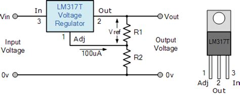 12v resistor to 9v variable voltage power supply using the lm317t