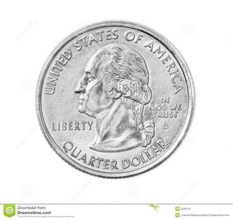 quarter coin stock image image 5266741