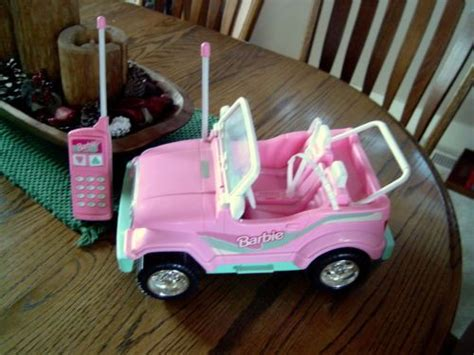 barbie jeep 1990s 1998 mattel pink barbie jeep battery operated with remote