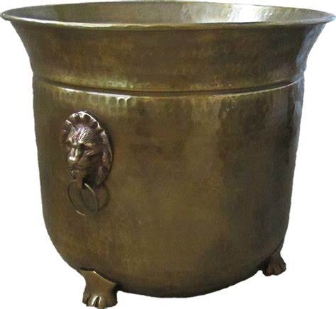 large indoor planters large brass planter handles 14 5 quot diameter traditional indoor pots and planters by