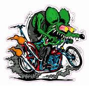 Rat Fink Harley Decal  Nostalgia Decals