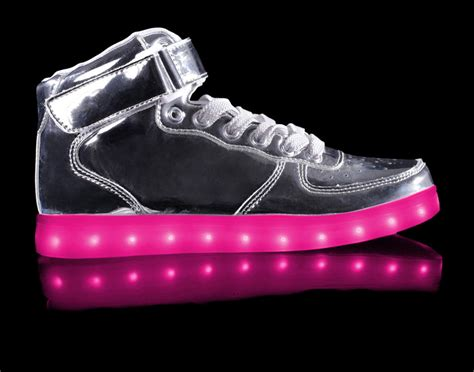 light shoes for kids led shoes with light metallic silver discount sale