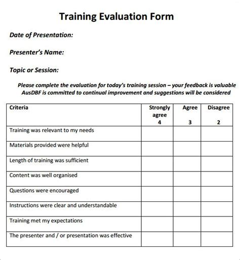 effectiveness evaluation form template free effectiveness evaluation form template