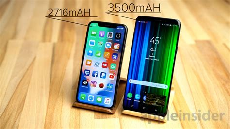iphone   galaxy   battery life compared