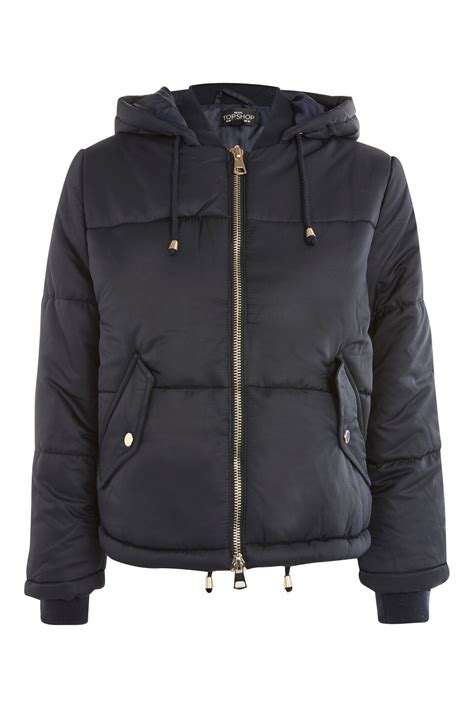 Hooded Puffer Jacket hooded puffer jacket topshop usa