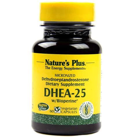 nature s plus dhea 25 25 mg 60 capsules evitamins