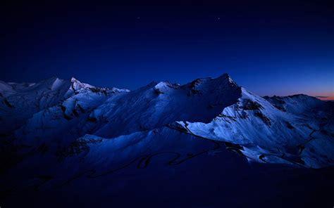 by night the mountain snowy peaks dark blue night wallpapers snowy peaks dark blue night stock photos