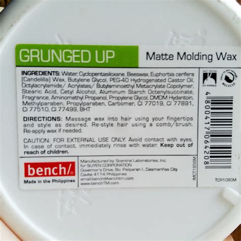 bench hair wax grunged up matte molding wax by bench vanity room