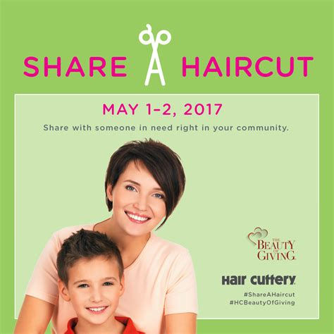 may share a haircut campaign to support victims of