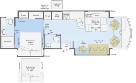 winnebago class c motorhomes floor plans winnebago floor plans class c winnebago aspect rv dealer