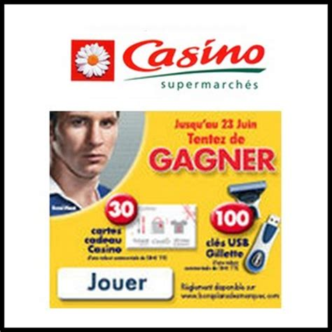 tirage au sort casino carte cadeau de 50 224 gagner