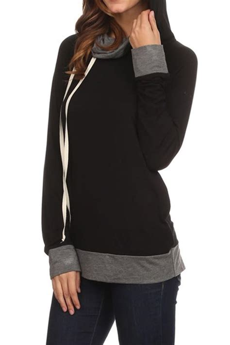 Jaket Hi Neck Hoodie Ja Ft 33 chris and carol cowl neck hoodie from california by maple boutique shoptiques