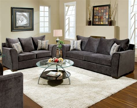 rooms with grey sofas gray sofas and loveseats avery grey fabric sofa and