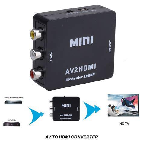 269yd 720 3 In 1 Import Bag mini composite av cvbs 3 rca to hdmi converter