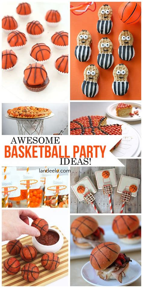 basketball ideas basketball treats and diy decorations landeelu