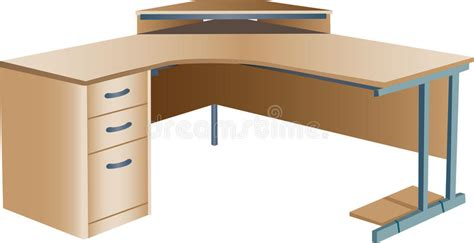 Angled Desk L by Angled Corner Office Desk Stock Vector Image Of Surface 14161233