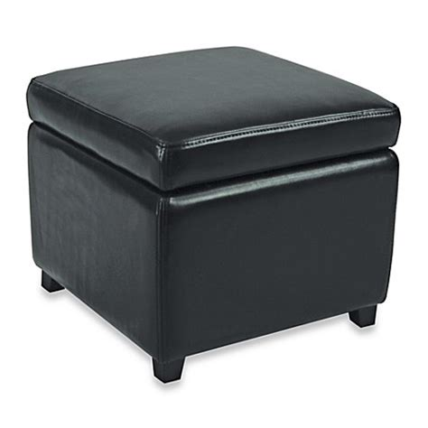 bed bath and beyond ottoman safavieh hudson leather jonathan storage ottoman bed