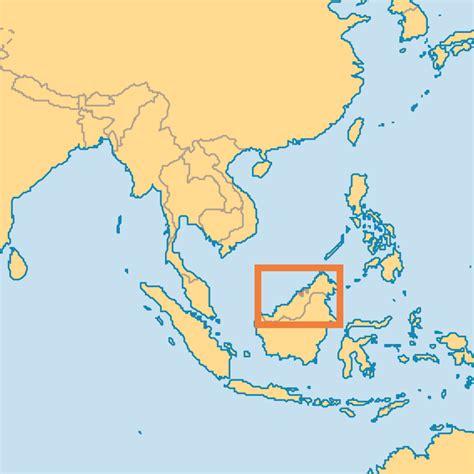 brunei map brunei operation world