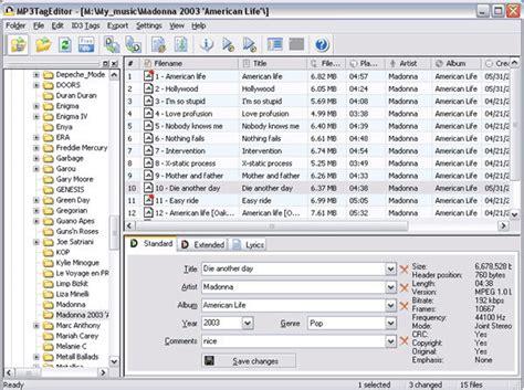 best mp editor software mp3 tag editor download edit id3 tags create mp3 filenames
