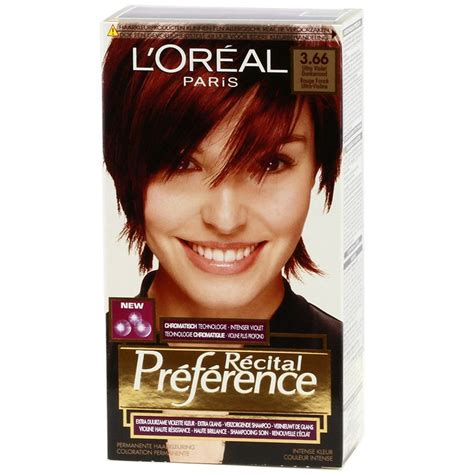see yourself in different hair color l oreal recital preference 3 66 ultra violet dark red