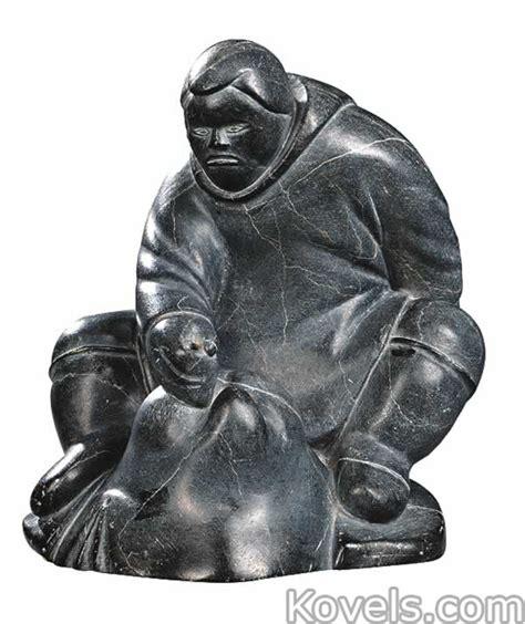 inuit soapstone carvings value antique eskimo folk ethnic price guide antiques