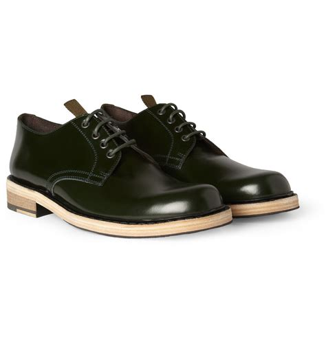 sole shoes acne studios bleeker contrast sole leather derby shoes in