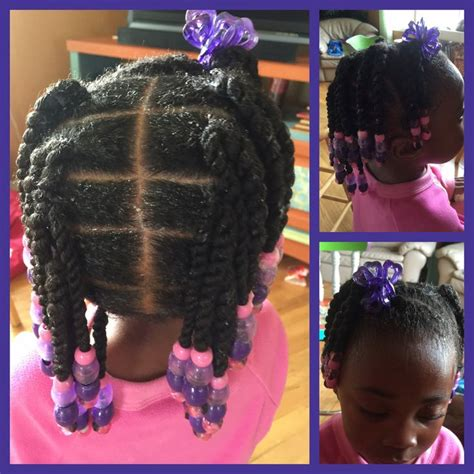 girl hairstyles with beads twists and beads natural hair little girl natural