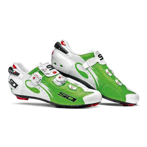 Kaos Moon Bike sidi wire carbon air vernice cycling shoes white green