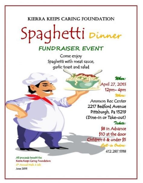 29 Images Of Spaghetti Dinner Fundraiser Ticket Template Leseriail Com Spaghetti Dinner Fundraiser Flyer Template