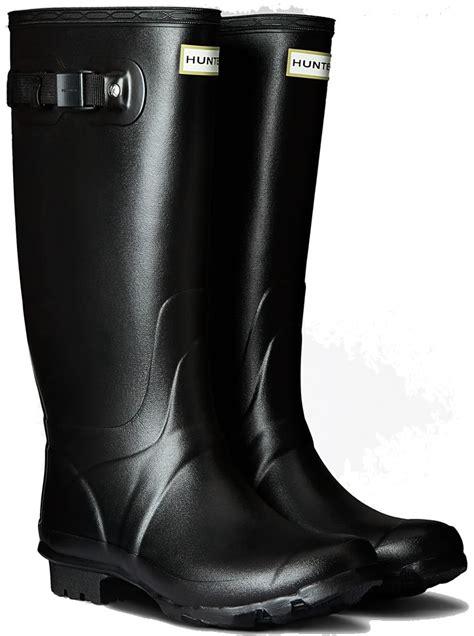 huntress field wide calf wellington boots black