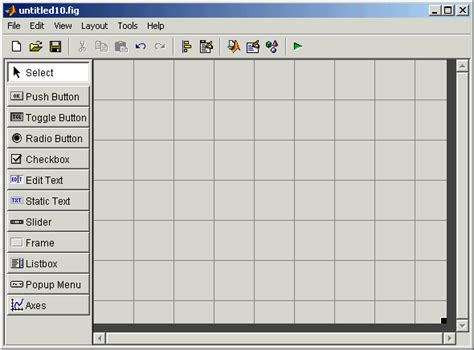 layout editor in matlab guide layout tools creating graphical user interfaces