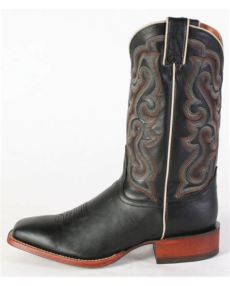 mens square toed boots nocona 174 s black calf square toe boots fort brands